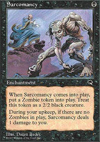 Magic the Gathering Tempest Single Sarcomancy UNPLAYED (NM/MT)