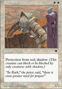 Magic the Gathering Tempest Single Soltari Priest - SLIGHT PLAY (SP)