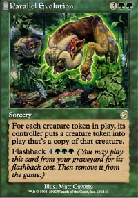 Magic the Gathering Torment Single Parallel Evolution UNPLAYED (NM/MT)