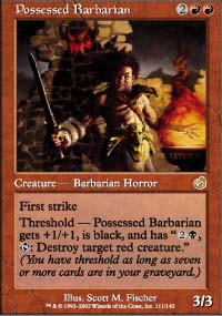 Magic the Gathering Torment Singles 4x Possessed Barbarian - NEAR MINT (NM)