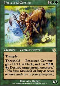 Magic the Gathering Torment Singles 4x Possessed Centaur UNPLAYED (NM/MT)