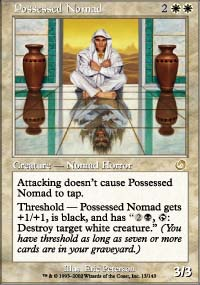 Magic the Gathering Torment Singles 4x Possessed Nomad - NEAR MINT (NM)