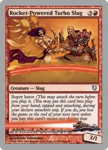 Magic the Gathering Unhinged Single Rocket-Powered Turbo Slug Foil