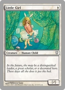 Magic the Gathering Unhinged Single Little Girl Foil