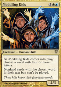 Magic the Gathering Unhinged Single Meddling Kids Foil