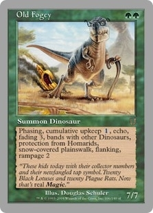 Magic the Gathering Unhinged Single Old Fogey Foil