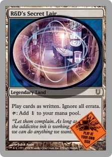 Magic the Gathering Unhinged Single R&D's Secret Lair Foil