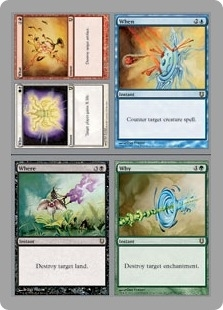 Magic the Gathering Unhinged Single Who What When Where Why Foil