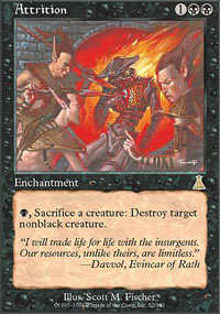 Magic the Gathering Urza's Destiny Single Attrition Foil