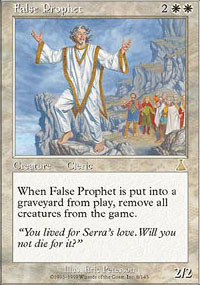 Magic the Gathering Urza's Destiny Single False Prophet LIGHT PLAY (NM)