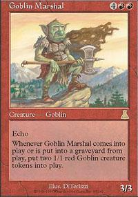 Magic the Gathering Urza's Destiny Single Goblin Marshal UNPLAYED (NM/MT)
