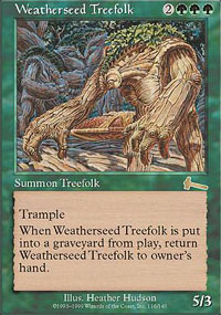 Magic the Gathering Urza's Legacy Single Weatherseed Treefolk - SLIGHT PLAY (SP)