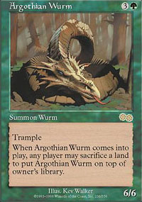 Magic the Gathering Urza's Saga Single Argothian Wurm SLIGHT PLAY (NM)