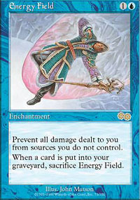 Magic the Gathering Urza's Saga Single Energy Field - NEAR MINT (NM)