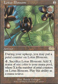 Magic the Gathering Urza's Saga Single Lotus Blossom UNPLAYED (NM/MT)
