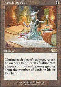 Magic the Gathering Urza's Saga Single Noetic Scales - NEAR MINT (NM)