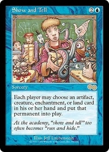 Magic the Gathering Urza's Saga Single Show and Tell - SLIGHT PLAY (SP)