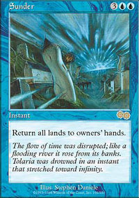 Magic the Gathering Urza's Saga Single Sunder LIGHT PLAY (NM)