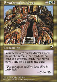 Magic the Gathering Visions Single Breathstealer's Crypt - NEAR MINT (NM)