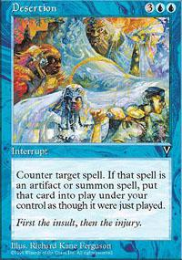 Magic the Gathering Visions Single Desertion - NEAR MINT (NM)