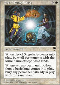 Magic the Gathering Visions Single Eye of Singularity UNPLAYED (NM/MT)