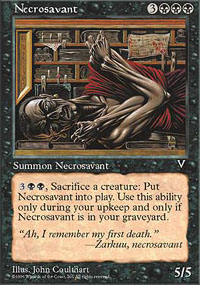 Magic the Gathering Visions Single Necrosavant UNPLAYED (NM/MT)