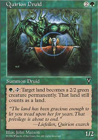 Magic the Gathering Visions Single Quirion Druid UNPLAYED (NM/MT)