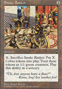 Magic the Gathering Visions Single Snake Basket - NEAR MINT (NM)