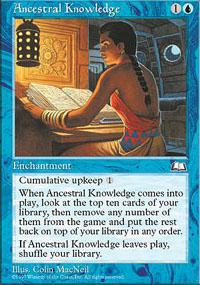 Magic the Gathering Weatherlight Single Ancestral Knowledge - NEAR MINT (NM)