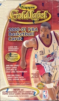 2000/01 Topps Gold Label Basketball Hobby Box