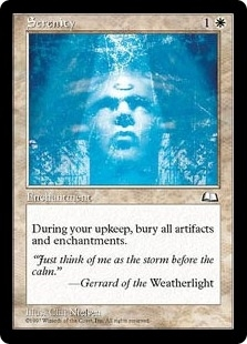 Magic the Gathering Weatherlight Single Serenity - NEAR MINT (NM)