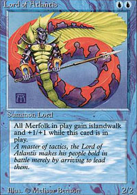 Magic the Gathering 3rd Ed (Revised) Single Lord of Atlantis LIGHT PLAY (NM)