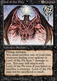 Magic the Gathering 3rd Ed (Revised) Single Lord of the Pit - MODERATE PLAY (MP)