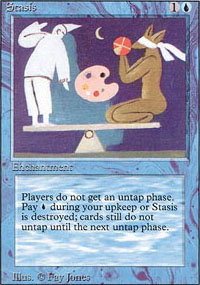 Magic the Gathering 3rd Ed (Revised) Single Stasis - SLIGHT PLAY (SP)