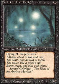 Magic the Gathering 3rd Ed (Revised) Single Will-o'-the-Wisp LIGHT PLAY (NM)
