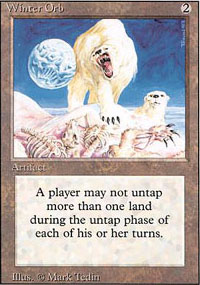 Magic the Gathering 3rd Ed (Revised) Single Winter Orb - MODERATE PLAY (MP)