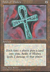 Magic the Gathering 4th Edition Single Ankh of Mishra - NEAR MINT (NM)