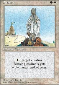Magic the Gathering 4th Edition Single Blessing - NEAR MINT (NM)