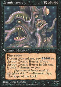 Magic the Gathering 4th Edition Single Cosmic Horror UNPLAYED (NM/MT)