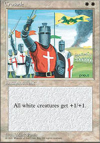 Magic the Gathering 4th Edition Single Crusade - MODERATE PLAY (MP)