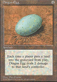 Magic the Gathering 4th Edition Single Dingus Egg - NEAR MINT (NM)