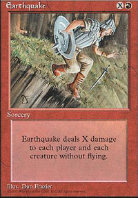 Magic the Gathering 4th Edition Single Earthquake - NEAR MINT (NM)