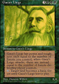 Magic the Gathering 4th Edition Single Gaea's Liege - NEAR MINT (NM)