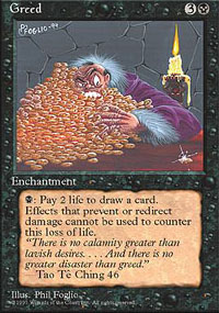Magic the Gathering 4th Edition Single Greed UNPLAYED (NM/MT)