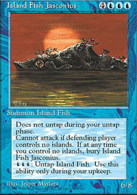 Magic the Gathering 4th Edition Single Island Jasconius Fish - NEAR MINT (NM)