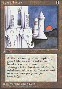 Magic the Gathering 4th Edition Single Ivory Tower - NEAR MINT (NM)