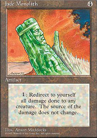 Magic the Gathering 4th Edition Single Jade Monolith UNPLAYED (NM/MT)