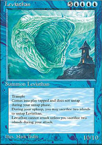 Magic the Gathering 4th Edition Single Leviathan UNPLAYED (NM/MT)