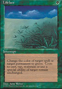 Magic the Gathering 4th Edition Single Lifelace UNPLAYED (NM/MT)