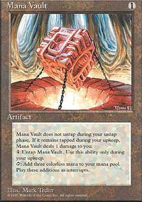 Magic the Gathering 4th Edition Single Mana Vault UNPLAYED (NM/MT)